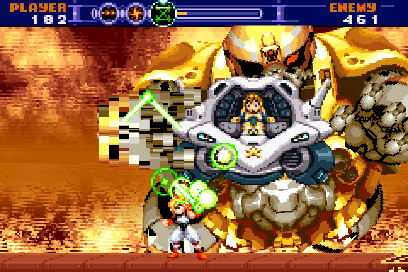 Gunstar Super Heroes uses rotated and mosaic sprites