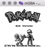 mGBA playing Pokémon Red